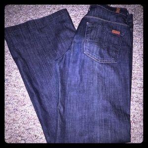 7FAMK nwot women's high waist flare dark jeans